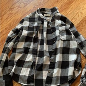 Black and white checked flannel